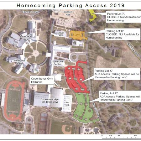 2019 Homecoming Parking Map