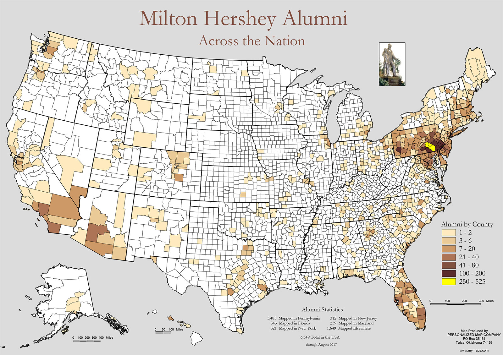 Alumni Across the Nation Map
